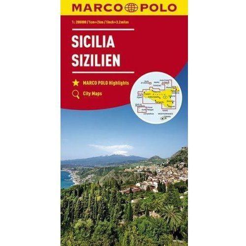 Mapa drogowa Marco Polo. Sycylia 1:200 000 - Praca zbiorowa, praca zbiorowa