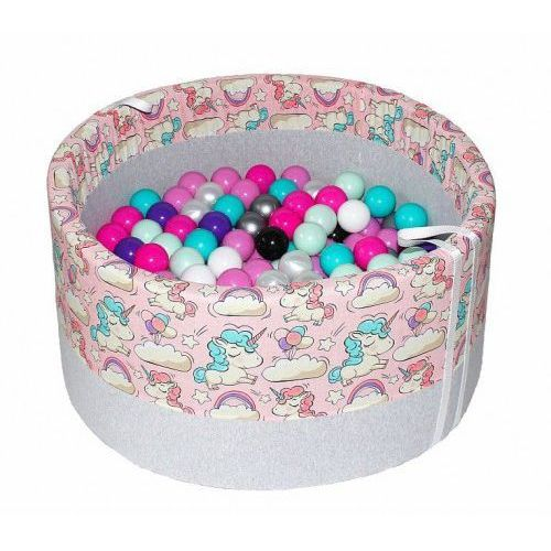 Suchy basen z piłeczkami dla dzieci BabyBall jednorożce