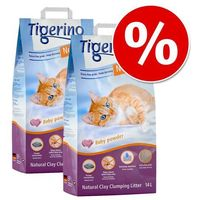 Tigerino Żwirek miesiąca: nuggies, 2 x 14 l w super cenie! - o zapachu kwiatów bawełny (4260358516615)