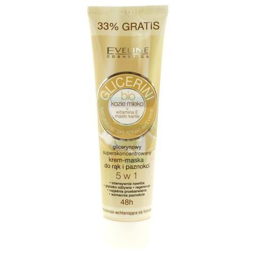 Eveline Cosmetics Glycerine krem do rąk i paznokci z kozim mlekiem (BIO Goat´s Milk Hand and Nail Cream - Mask) 100 ml