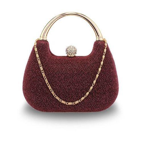 1d472bded63e4 Zobacz ofertę Bordowa brokatowa torebka wizytowa z rączką - bordowy, kolor  czerwony