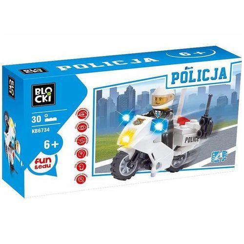 Klocki Blocki Policja Motocykl 30 elementów