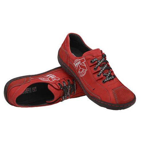 4460668d22ac6 ▷ Półbuty 2-3891-102+489 czerwone damskie trekkingowe (KACPER ...