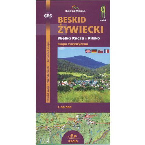 Beskid Żywiecki Wielka Racza i Pilsko Mapa turystyczna 1: 50 000