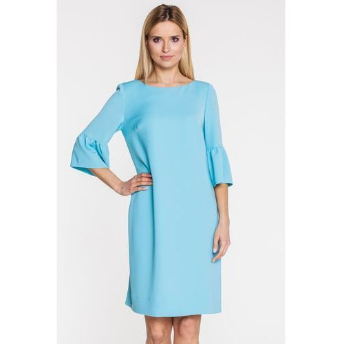 Morska sukienka z hiszpańskim rękawkiem - Gapa fashion