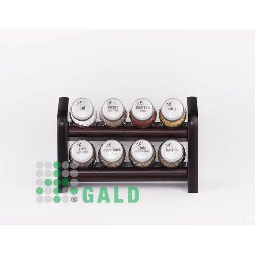 półka z przyprawami 8-el. ciemne drewno (venge) mat 5901832922186 marki Gald
