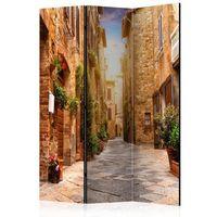 Parawan do mieszkania 3-częściowy - Kolorowa uliczka w Toskanii 135 szer. 172 wys.