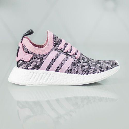 adidas Originals NMD_R2 Primeknit Sneakers Czarny Różowy 37 1/3