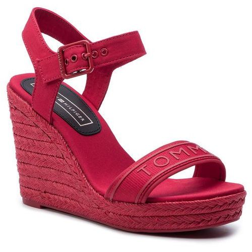 a71e116849d78 Tommy Hilfiger Espadryle - colorful tommy wedge sandal fw0fw04160 true red  665, Tommy hilfiger, 36-