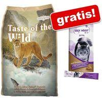Taste of the wild 7 kg dla kota + przysmak my star is a diva, 8 x 15 g gratis! - canyon river feline| darmowa dostawa od 89 zł i super promocje od zooplus!