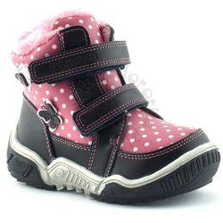 Buty zimowe dla dzieci firmy Apawwa AH71 - Różowy   Granatowy, kolor różowy