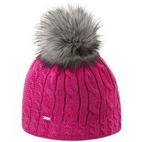 Kama czapka damska dzianinowa Merino A121 różowa