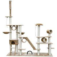 vidaXL Drapak dla kota 230-260 cm Deluxe, beż