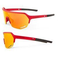 Okulary Accent Hero czerwone, czerwone lustrzane, niebieskie rozjaśniające