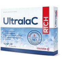 Kapsułki UltralaC RICH probiotyk 10 szczepów bakterii Lactobacillus Bifidobacterium Inulina 10kapsułek