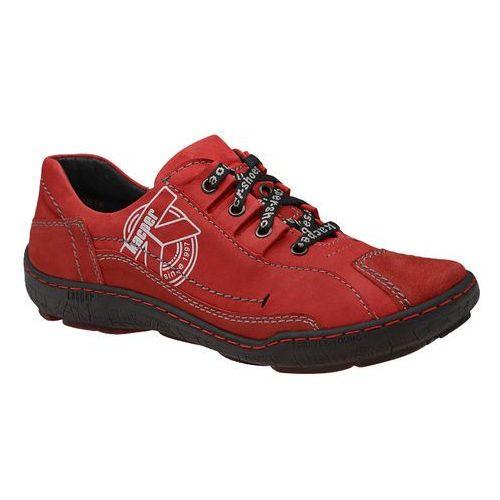 Półbuty 2-3891-102+489 czerwone damskie trekkingowe marki Kacper