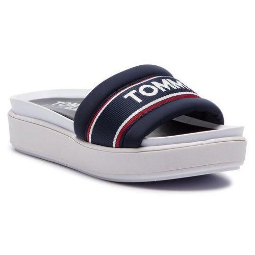 601cc4274d94c Tommy Jeans Klapki TOMMY JEANS - Pop Webbing Mule EN0EN00438 Midnight 403