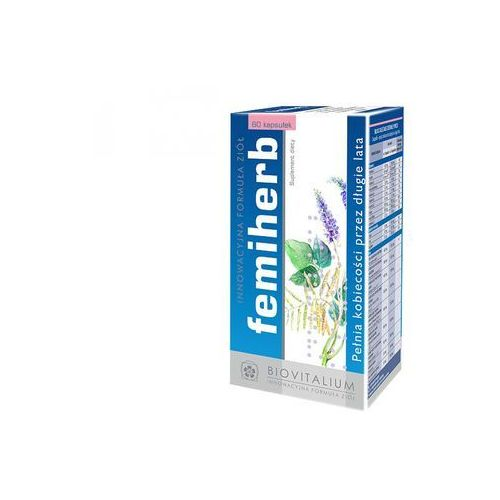 Femiherb - Suplement diety dla kobiet w okresie Menopauzy,Klimakterium. DARMOWA DOSTAWA OD 65 ZŁ