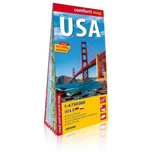 USA laminowana mapa samochodowo-turystyczna 1:4 750 000 - Praca zbiorowa, oprawa broszurowa