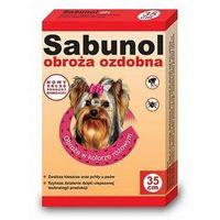 Sabunol Obroża różowa przeciw pchłom i kleszczom dla psa 35cm (5901742001315)