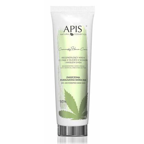 Cannabis home care regenerating hand cream regenerujący krem do rąk z olejem z konopi i masłem shea (5702) Apis