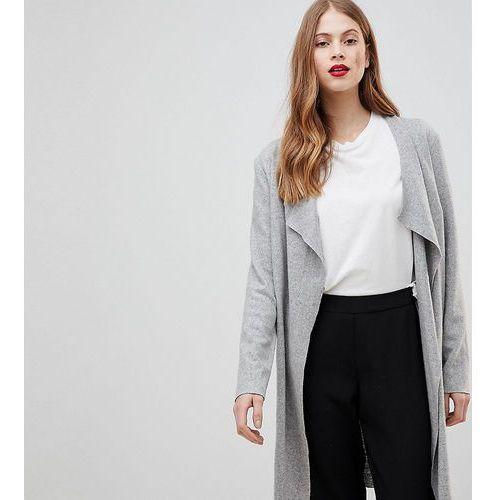 Y.A.S Longline Wool Cardigan - Grey, wełna