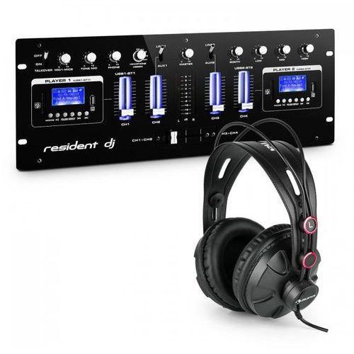 Dj405usb-bk 4-kanałowy pulpit mikserski ze słuchawkami studyjnymi marki Resident dj