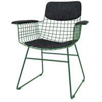 HK Living Zestaw COMFORT czarny do krzesła metalowego WIRE z podłokietnikami TAA1284, TAA1284