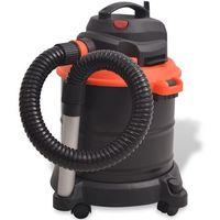 Vidaxl  odkurzacz kominkowy do popiołu 1200 w, 20 l, czarno-pomarańczowy