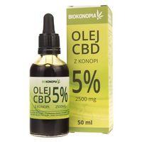Biokonopia Olejek z konopi 5% CBD 2500 mg - 50 ml (0590000500056)