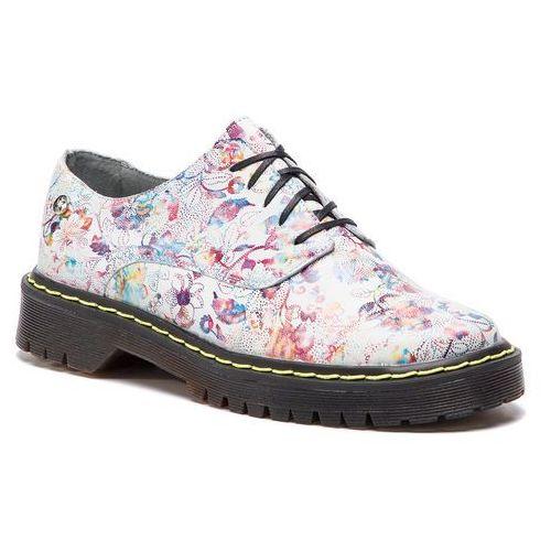Oxfordy - 04087-38/00-5 kwiaty na białym marki Maciejka