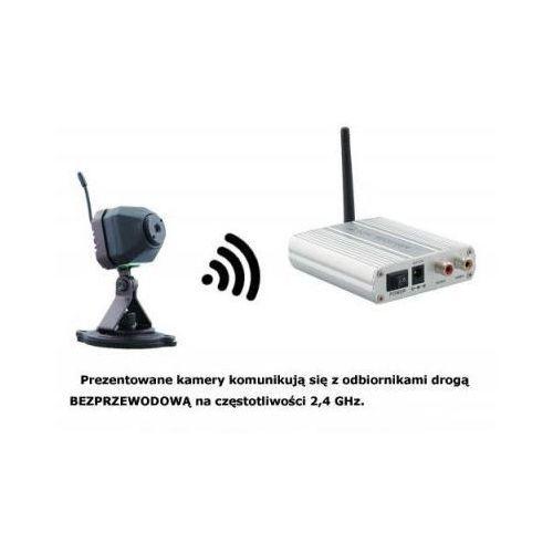 Mikro-Kamera Bezprzewodowa + 4-kanałowy Odbiornik do 300m.