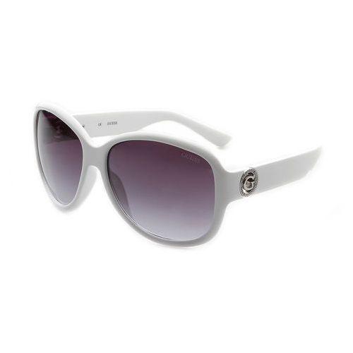 Okulary przeciwsłoneczne damskie gu7406 białe Guess