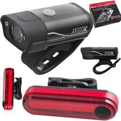 Lampa p+t /aumulator/ ProX HYDRA SETcree akumulator USB 400+40lm, czarne, A-O-B-P-0357