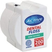 200 METRÓW NICI!!! ANGIELSKI ACTIVE ORAL CARE Nić dentystyczna miętowa woskowana 200m