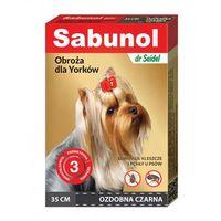 Bezzapachowa obroża przeciw pchłom i kleszczom 35 cm marki Sabunol