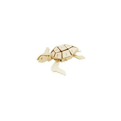 Puzzle drewniane 3D Żółw morski