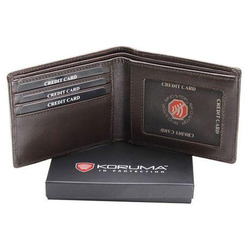 7c35882014dd3 Ultra Cienki Skórzany Portfel Slim Zabezpieczenie Kart RFID Czarny - Brąz  połysk (5903111394479)