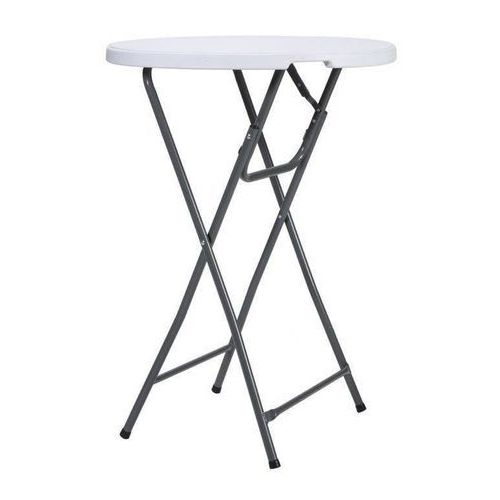 Stół koktajlowy bankietowy wysoki 80x115cm biały dobrebaseny (8711295915673)
