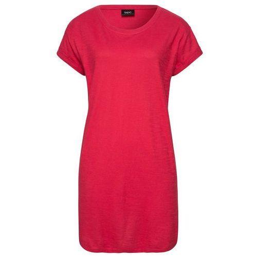 """Bonprix Długi shirt """"boxy"""", krótki rękaw czerwony"""