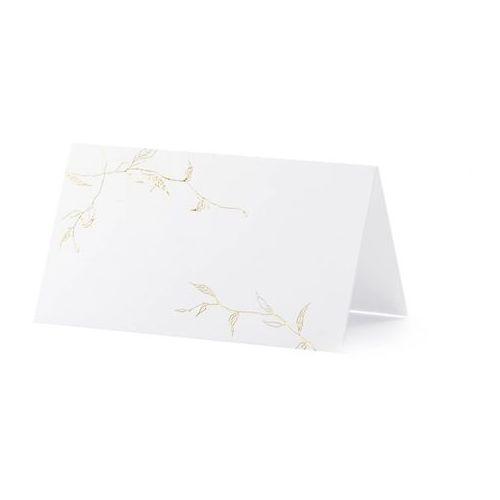 Wizytówki na stół gałązki - 9,5 x 5,5 cm - 10 szt. marki Party deco