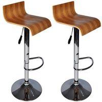 Vidaxl komplet 2 hokerów z drewnianym siedziskiem (8718475807056)