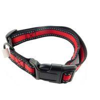 Obroża materiałowa dla małego psa czerwono-czarna ca048s marki Goldenmarket