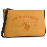 Torebka U.S. POLO ASSN. - Cowtown Flat BEUCW0564WVP/302 Mustard Coral