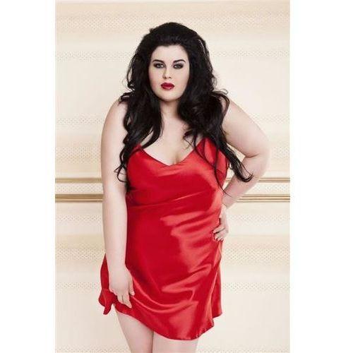 Koszula DKaren Karen 3XL bordowy - bordowy, kolor czerwony