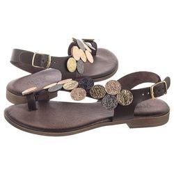 Sandały brązowe 5363 mocc-oro (ve309-a) marki Venezia
