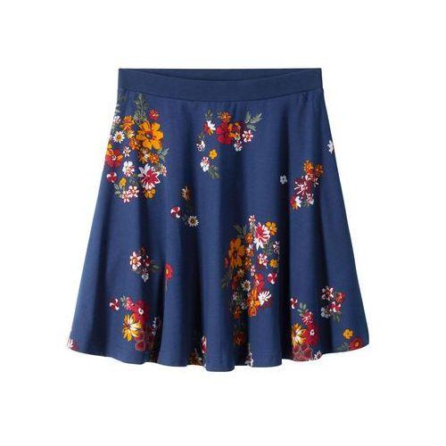 Spódniczka w kwiaty niebieski z nadrukiem marki Bonprix