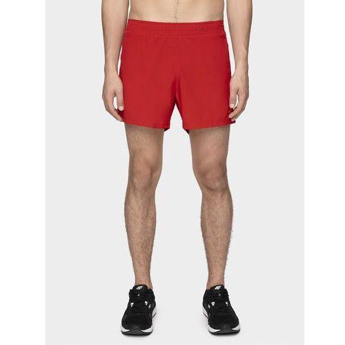 Spodenki do biegania męskie SKMF271 - czerwony, kolor czerwony