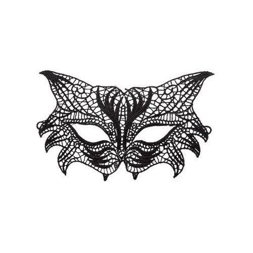 Maska karnawałowa koronkowa czarna - 1 szt.