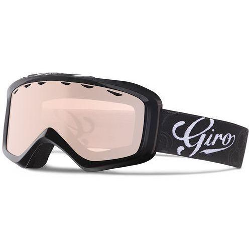 Giro gogle charm black sketch floral/rose silver s